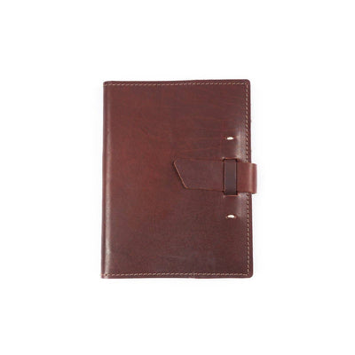 Switchback Leather Notebook - Burgundy