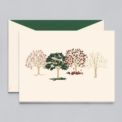 FOUR SEASONS ENGRAVED HOLIDAY GREETING CARD
