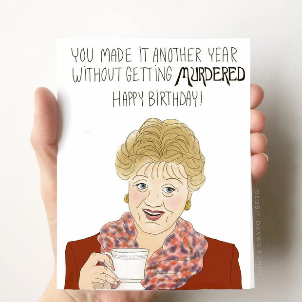 Happy Birthday You Didn't Get Murdered Card
