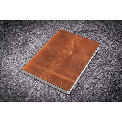 Galen Leather Notebook - Crazy Horse Brown - B6