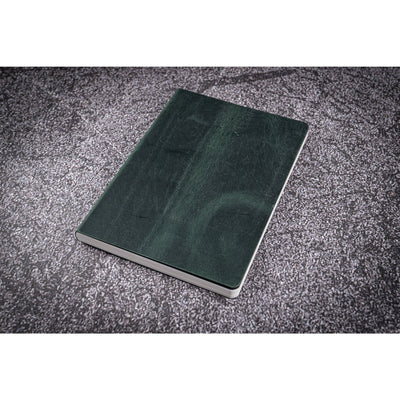 Galen Leather Notebook - Crazy Horse Forest Green - A5