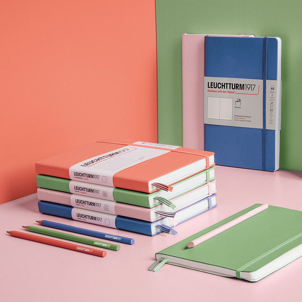Leuchtturm A5 Softcover Notebook - Sage - Ruled