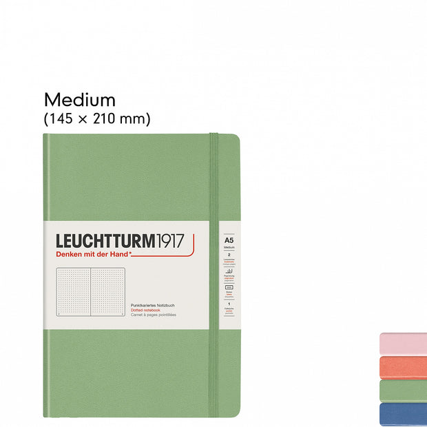 Leuchtturm A5 Hardcover Notebook - Sage - Plain