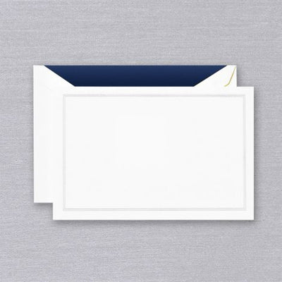 Navy Blue Triple Hairline Card