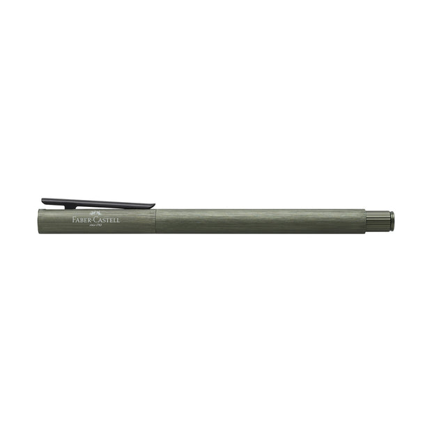 Faber-Castell Neo Slim Fountain Pen - Olive Green Aluminum