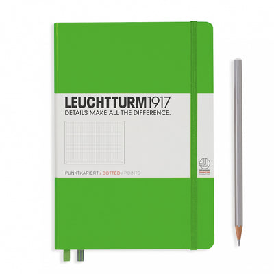 Leuchtturm A5 Hardcover Notebook - Fresh Green - Dot Grid