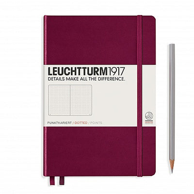 Leuchtturm A5 Hardcover Notebook - Port Red - Dot Grid