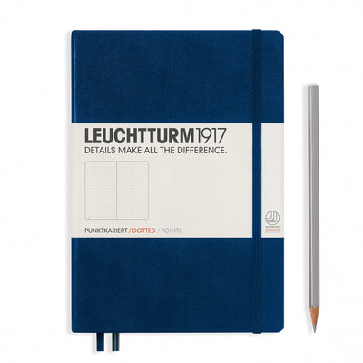 Leuchtturm A5 Hardcover Notebook - Navy - Dot Grid