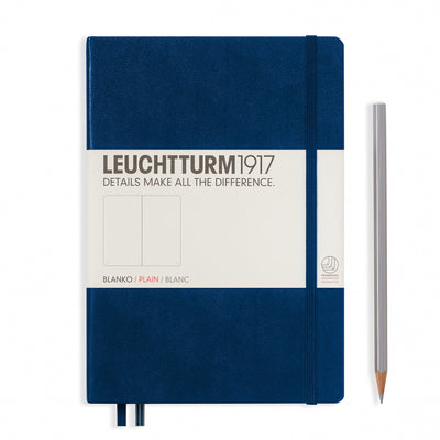 Leuchtturm A5 Hardcover Notebook - Navy - Plain