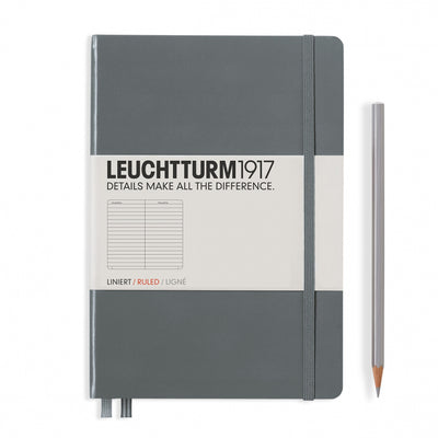 Leuchtturm A5 Hardcover Notebook - Anthracite Grey - Ruled