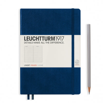 Leuchtturm A5 Hardcover Notebook - Navy - Ruled