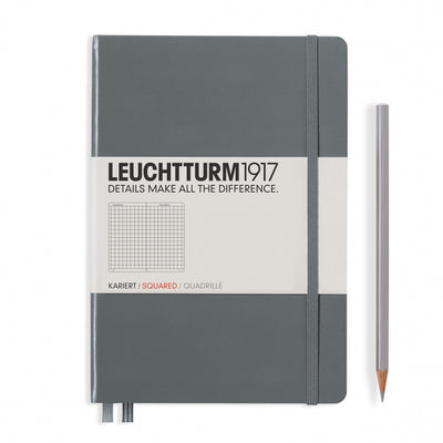 Leuchtturm A5 Hardcover Notebook - Anthracite Grey - Squared