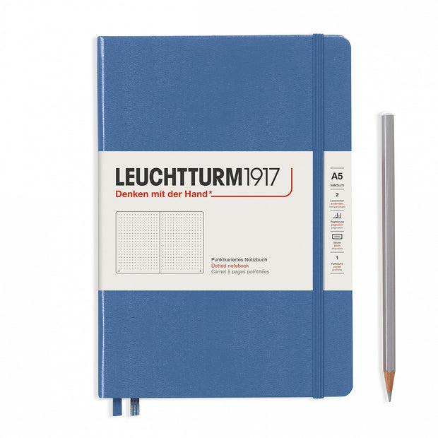 Leuchtturm A5 Hardcover Notebook - Denim - Dot Grid