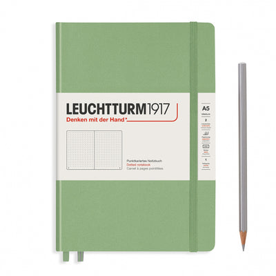 Leuchtturm A5 Hardcover Notebook - Sage - Dot Grid