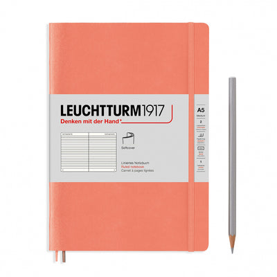 Leuchtturm A5 Softcover Notebook - Bellini - Ruled