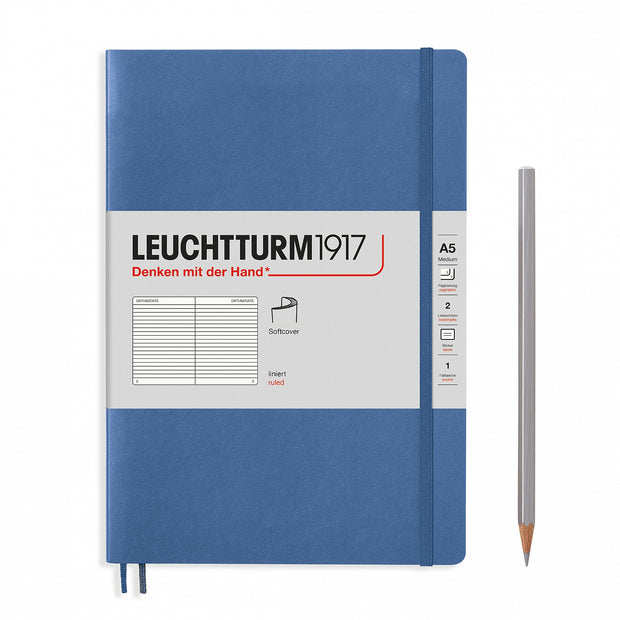 Leuchtturm A5 Softcover Notebook - Denim - Ruled