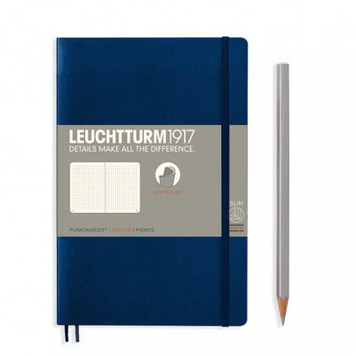 Leuchtturm B6+ Softcover Notebook - Navy - Dot Grid