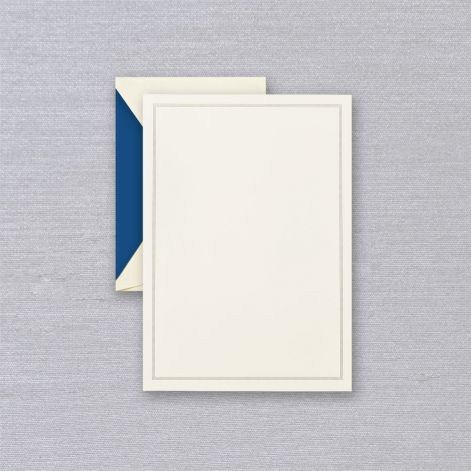 Regent Blue Triple Hairline Half Sheet Card