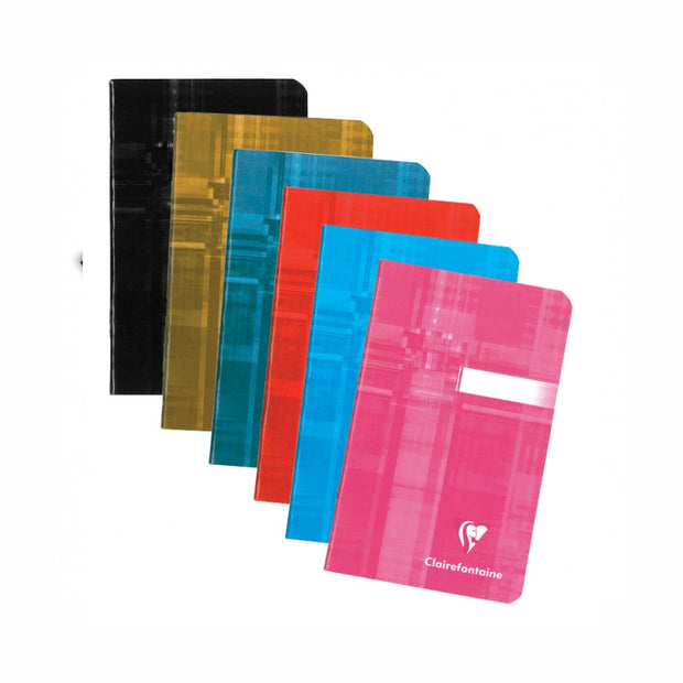 Clairefontaine Staplebound Notebook - Ruled 48 sheets - 3 1/2 x 5 1/2 - Assorted