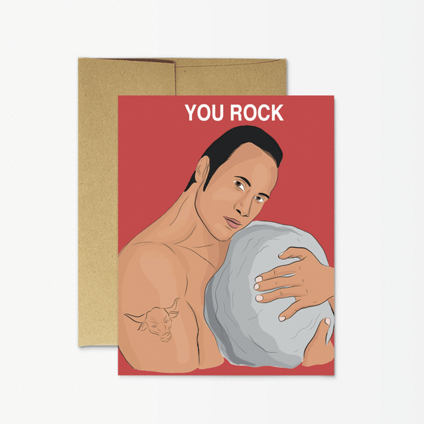 The Rock You Card