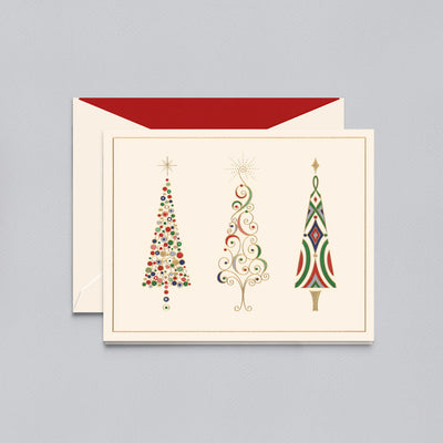 VIENNESE TREES CHRISTMAS GREETING CARD