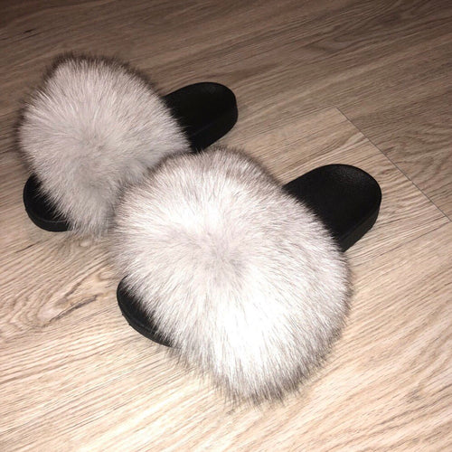 c9c0b5689a2 Cool Grey Fox Slippers (Grey White)