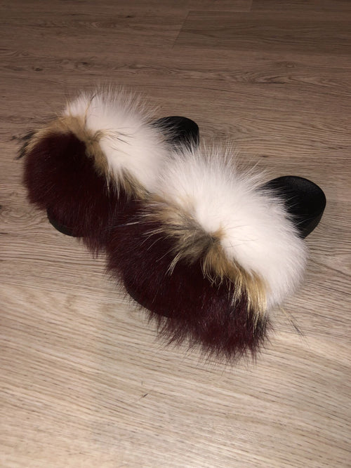 edd039d22f0 Wine Fox Slippers (Burgundy)
