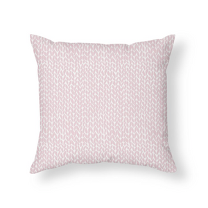 Knit Bubblegum Pink Throw Pillow