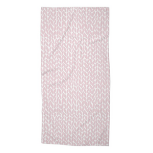 Knit Bubblegum Pink Beach Towel