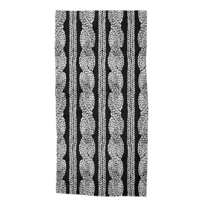 Cable Row Black Beach Towel