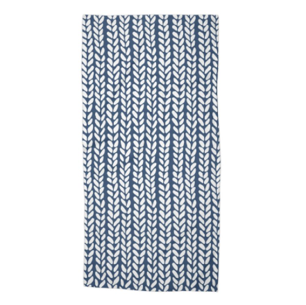 Knit Wave Navy Beach Towel