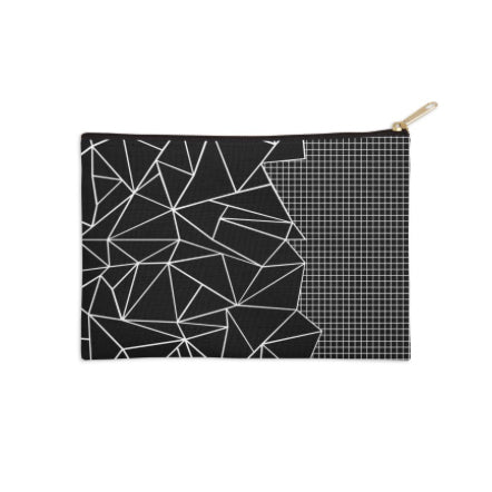 Abstract Geometric Grid Pouch