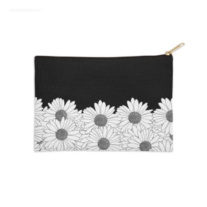 Daisy Boarder Black and White Pouch