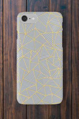 Ab Geometric Grey and Gold Phone Case