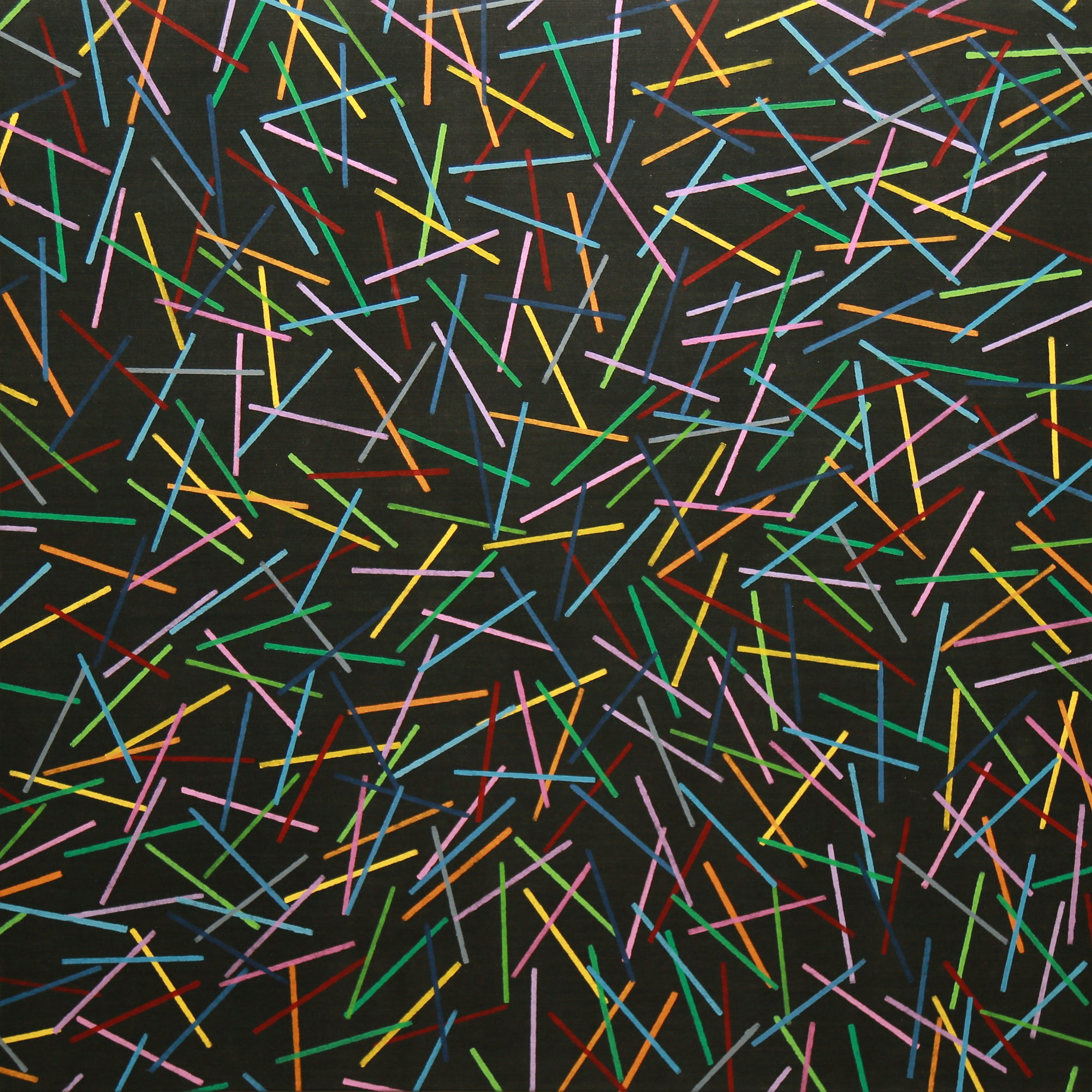 "Kerplunk - Original Painting 40""x40"" - Acrylic on Denim"