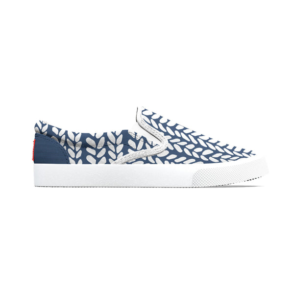 Navy Blue Knit Shoe