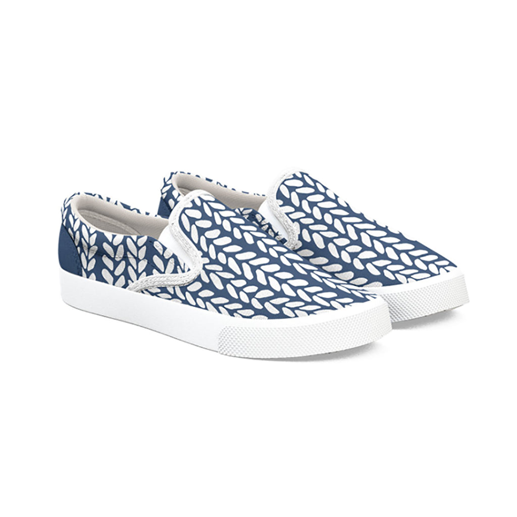 Art Tate Shoes navy blue knit shoe – emeline tate art and designs