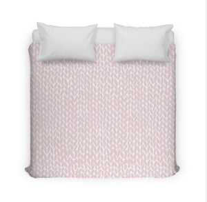 Pink Bubblegum Knit Duvet Cover