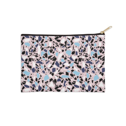 Terrazzo Pink and Blue Pouch