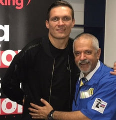 Russ Anber with Usyk