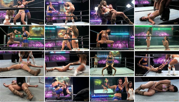 DOWNLOAD - Ultimate Low Blows Vol.6 (Racquel vs. Sam & Jessicka)