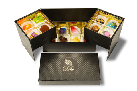 gourmet chocolate corporate gifts, corporate chocolate gift boxes, unique corporate gift baskets