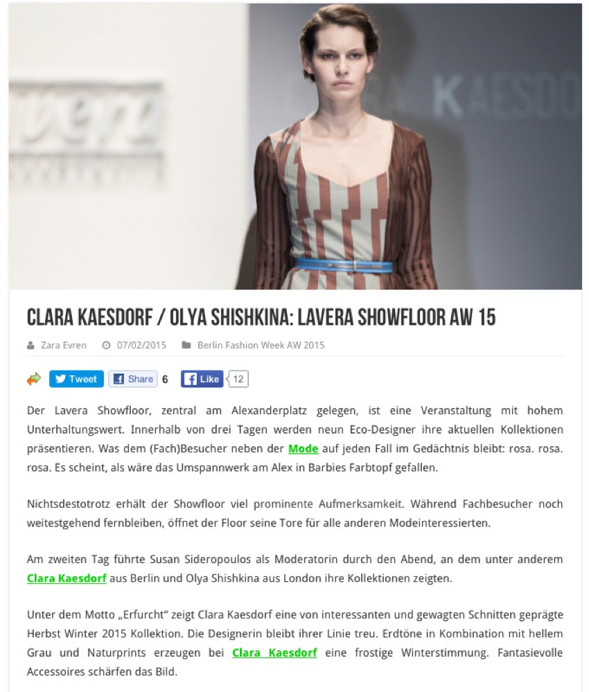 Clara Keasdorf at Lavera Showfloor