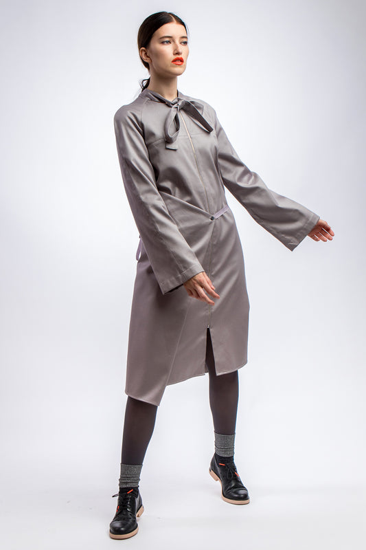 Adjustable Grey Summer-Coat