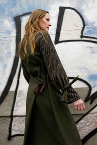 Versatile Wool Coat Green
