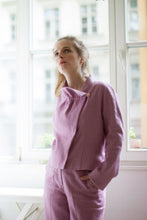 Laden Sie das Bild in den Galerie-Viewer, Pink Summer jacket with herringbone pattern