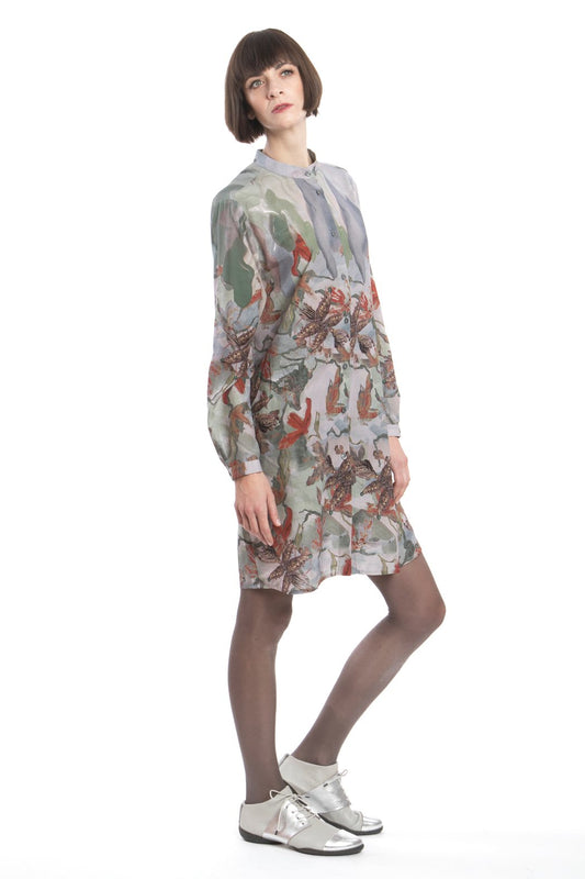 Shirtdress Flower Red