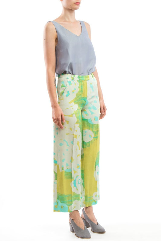 Wide Pants YellowPrint