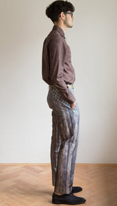 Pants with grey print