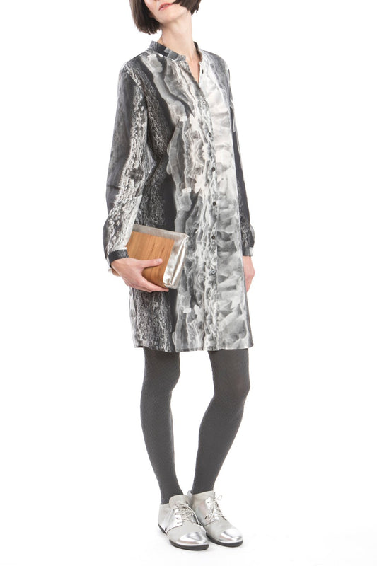 Shirtdress Ice-Crystal Print